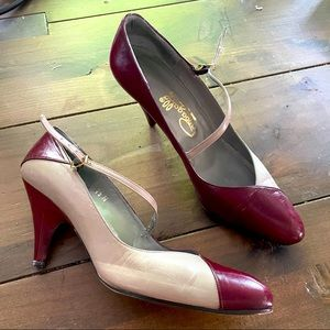 1950s two tone heels